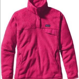 Patagonia Re-Tool Fleece Pullover Pink Small